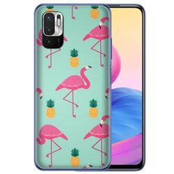 Skin Xiaomi Redmi Note 10 5G - Sticker Mobster Autoadeziv Pentru Spate - Flamingo