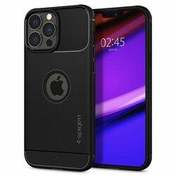 Husa iPhone 13 Pro Spigen Rugged Armor, Matte Black