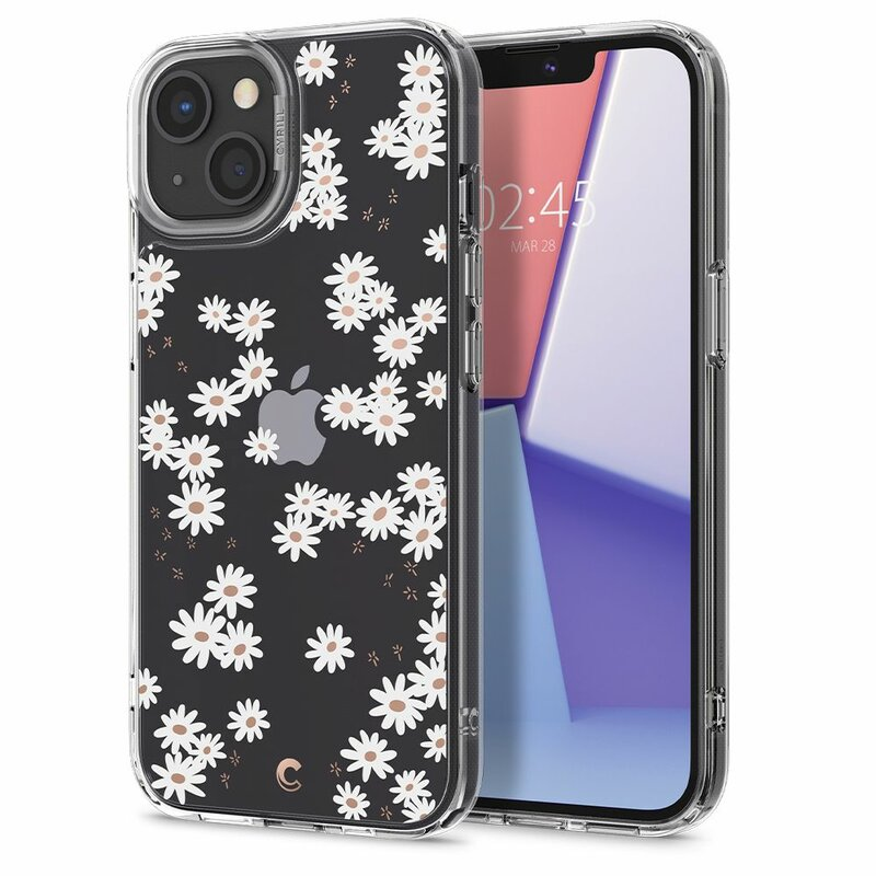 Husa iPhone 13 Spigen Ciel by Cyrill Cecile, White Daisy