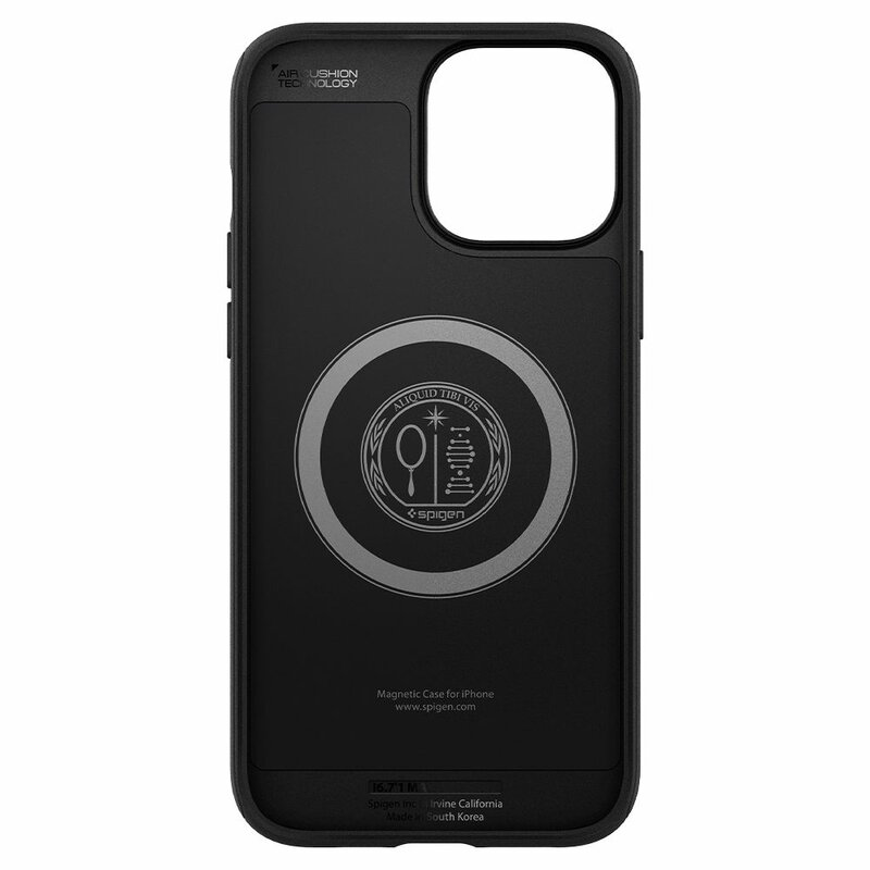 Husa iPhone 13 Pro Spigen Mag Armor MagSafe, negru