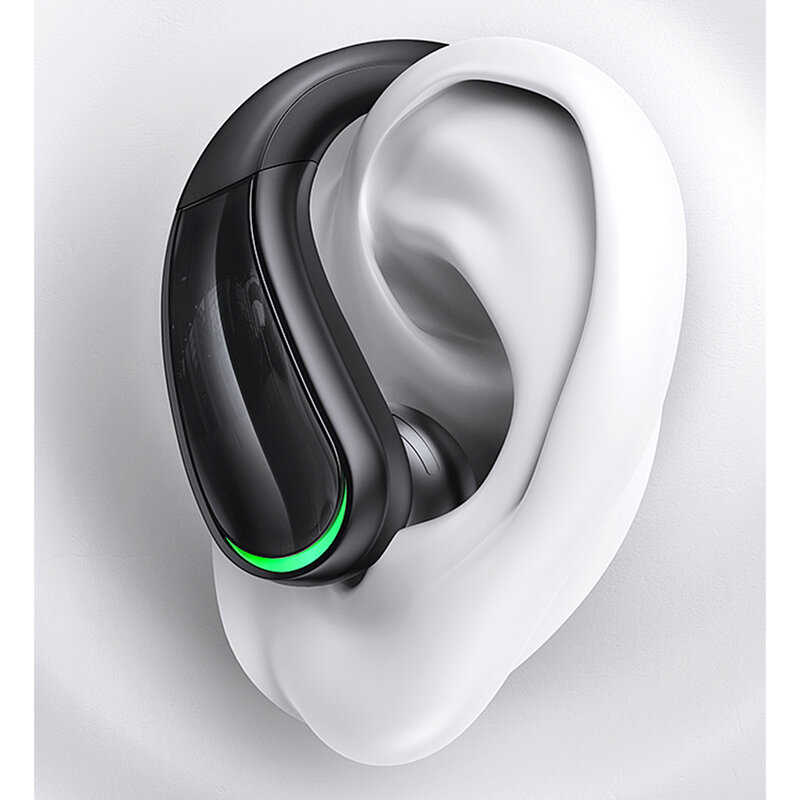 Casti wireless alergare USAMS YT07, Bluetooth earbuds sport, negru