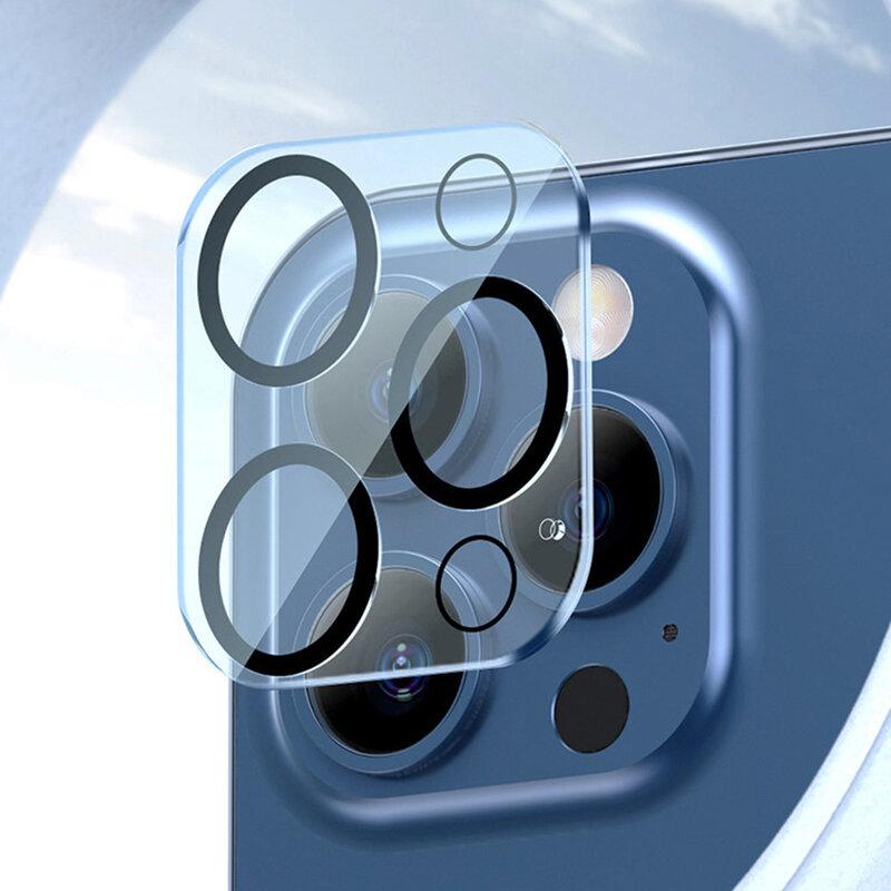Folie camera iPhone 12 Pro Max Mocolo Back Lens 9H, negru