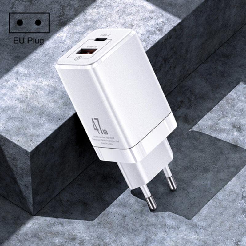 Incarcator priza USAMS T41 Type-C PD45W + USB 27W, 47W, alb