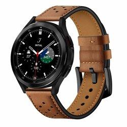 Curea Samsung Galaxy Watch4 Classic 46mm Tech-Protect Leather, maro