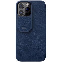 Husa iPhone 13 Pro Max Nillkin QIN Leather PRO - Albastru