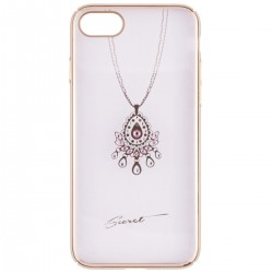 Husa iPhone 7 iSecret Necklace - White and Pink