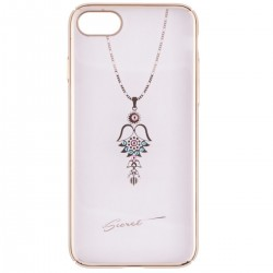 Husa iPhone 7 iSecret Necklace - Pink and Turquoise