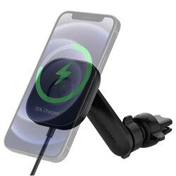 Suport auto Spigen ITS12W, incarcator wireless MagSafe, negru