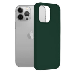 Husa iPhone 13 Pro Techsuit Soft Edge Silicone, verde inchis