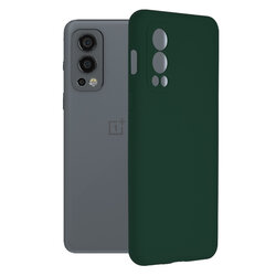 Husa OnePlus Nord 2 5G Techsuit Soft Edge Silicone, verde inchis
