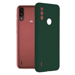 Husa Motorola Moto E7 Power Techsuit Soft Edge Silicone, verde inchis