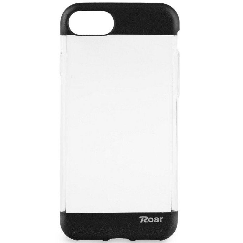Husa iPhone 7 Roar Fit UP Transparent-Negru
