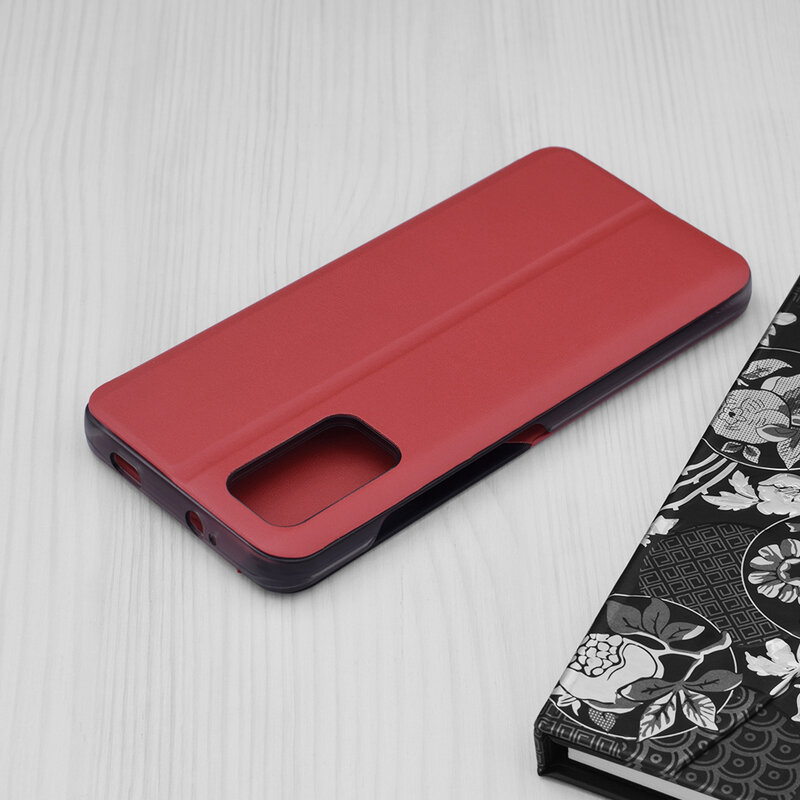 Husa Xiaomi Redmi 9 Power Eco Leather View Flip Tip Carte - Rosu