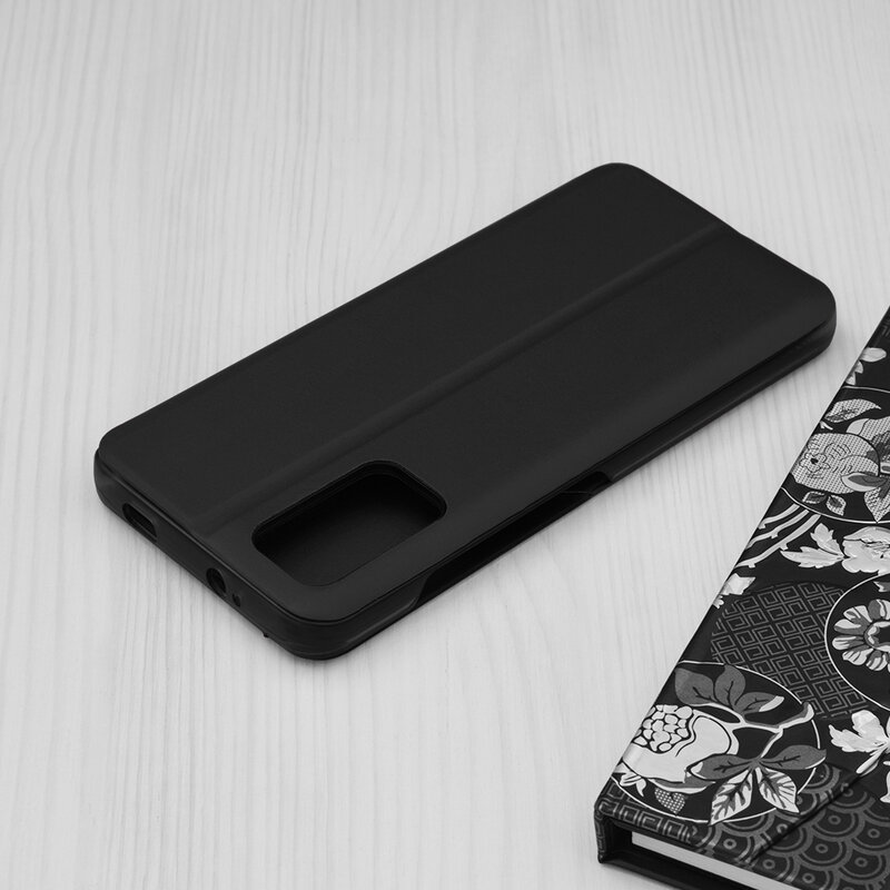 Husa Xiaomi Redmi 9 Power Eco Leather View Flip Tip Carte - Negru