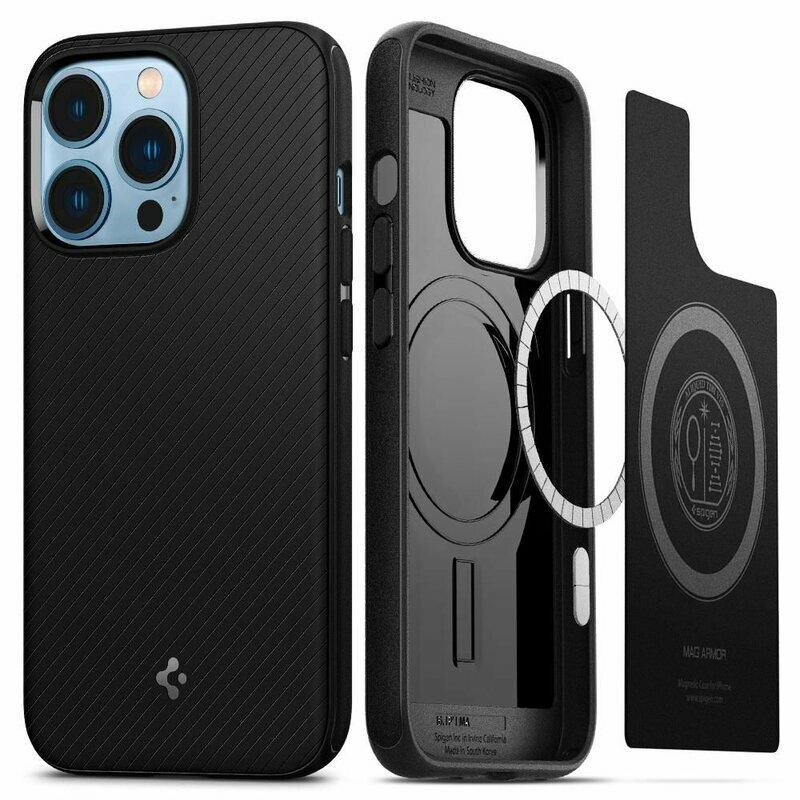 Husa iPhone 13 Pro Spigen Core Armor MagSafe, negru