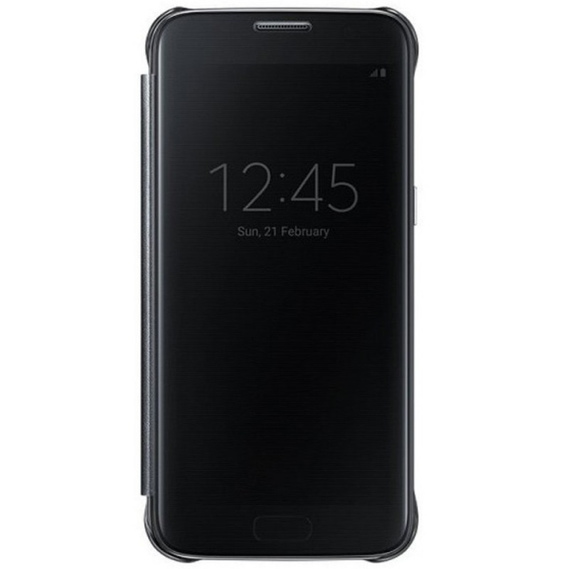 Husa Originala Samsung Galaxy S7 G930 Clear View Cover Negru