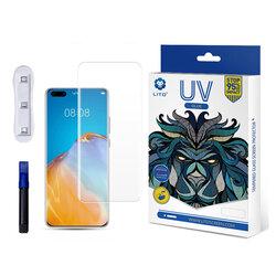 Folie Sticla Huawei P40 Pro Lito UV Glue 9H Cu Lampa Si Adeziv Lichid - Clear