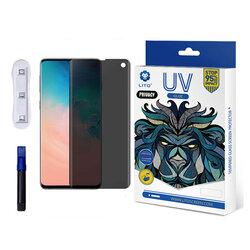 Folie Sticla Samsung Galaxy S10 Lito UV Glue PRIVACY 9H Cu Lampa Si Adeziv Lichid - Clear