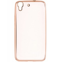 Husa Huawei Y6 4G / Orange Dive 70 TPU Electro Transparent-Auriu