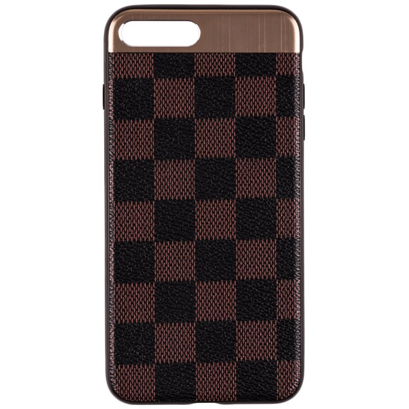 Husa Apple iPhone 7 Plus Leoleo Back Cover - Brown Squares