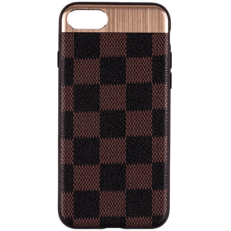 Husa Apple iPhone 7 Leoleo Back Cover - Brown Squares