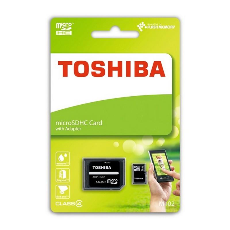 Card de memorie MicroSDHC 8 GB Toshiba + Adaptor SD