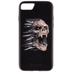 Husa Iphone 7 Santa Barbara Grunge Leather - Skull