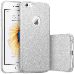 Husa iPhone 6, 6S Color TPU Sclipici - Argintiu