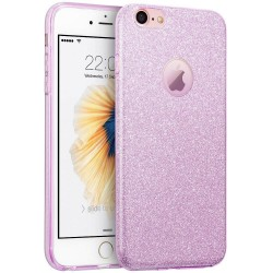 Husa iPhone 6, 6S Color TPU Sclipici - Mov