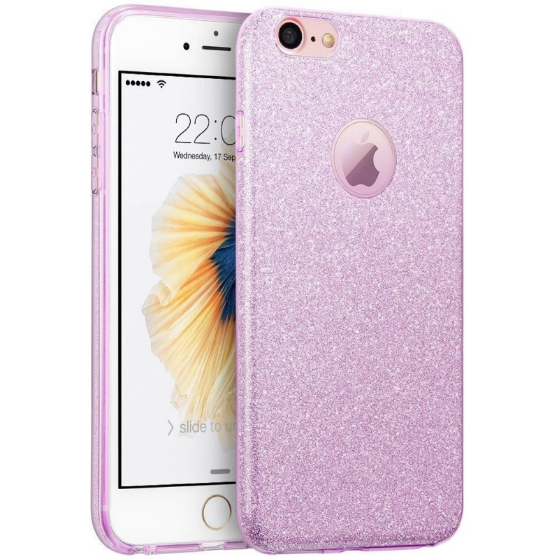 Husa iPhone 7 Color TPU Sclipici - Mov
