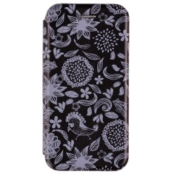Husa iPhone 7 Flip Magnet Book Type - Black Nature