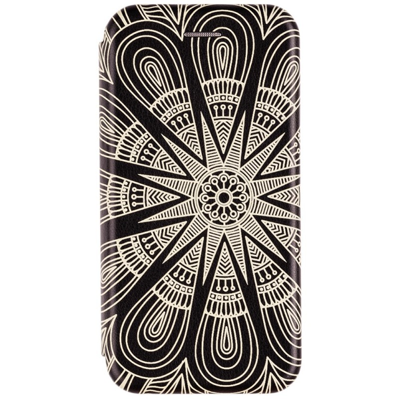 Husa iPhone 7 Flip Magnet Book Type - Yellow Sun