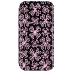 Husa iPhone 7 Flip Magnet Book Type - Purple Flowers