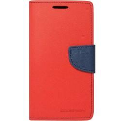 Husa LG K10 2017 Flip Rosu-Albastru MyFancy