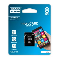 Card de memorie Class 4 MicroSDHC 8 GB Goodram + Adaptor SD