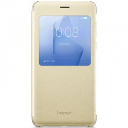 Husa Originala Huawei Honor 8 S-View Cover Gold