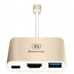Hub Baseus Sharp Series HDMI pentru MacBook - Gold