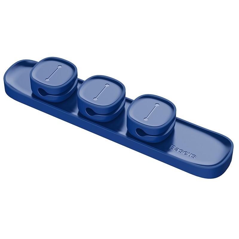 Suport Cable Clip Baseus Peas pentru Birou - Albastru