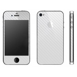 Folie Protectie Full Cover Apple iPhone 4, 4S  - Carbon