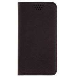 Husa Smart Book pentru telefoane intre 4.5 - 4.7 inch - Flip Negru