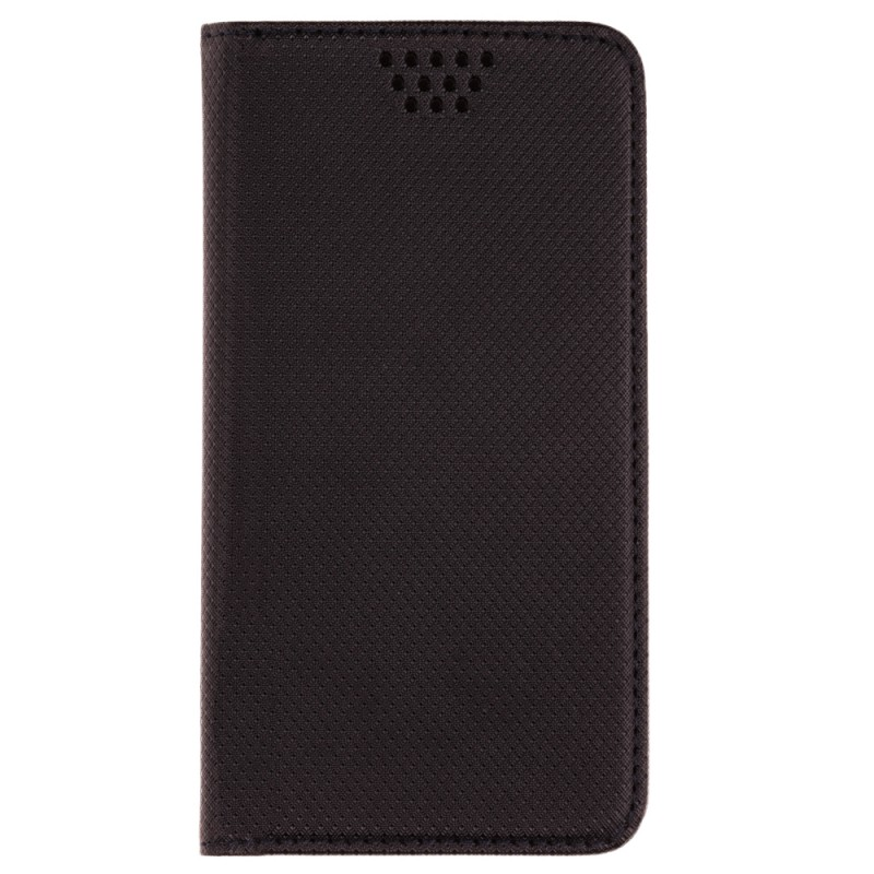 Husa Smart Book pentru telefoane intre 4.0 - 4.5 inch - Flip Negru