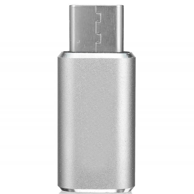 Convertor Micro-USB - Type-C- Gri