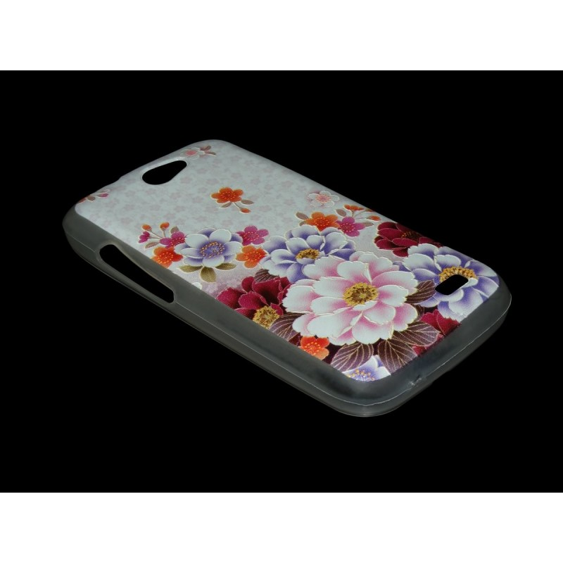 Husa Allview A5 Duo Silicon Gel TPU Colorful Flowers