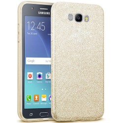 Husa Samsung Galaxy J5 2016 J510 Color TPU Sclipici - Auriu