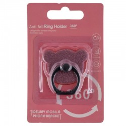 Suport Telefon/Tableta Glitter Bear Ring - Pink