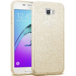 Husa Samsung Galaxy A5 2016 A510 Color TPU Sclipici - Auriu