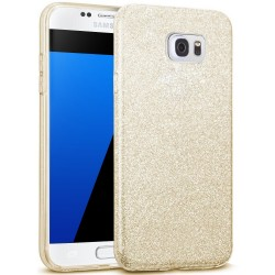Husa Samsung Galaxy S6 Color TPU Sclipici - Auriu
