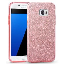 Husa Samsung Galaxy S6 Edge G925 Color TPU Sclipici - Roz