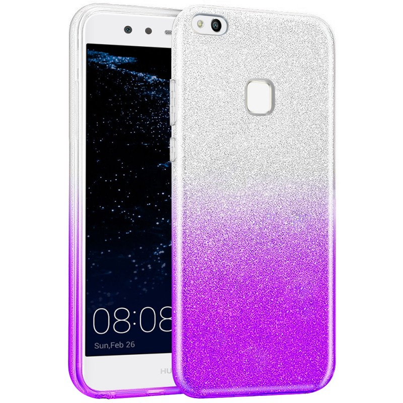 Husa Huawei P10 Lite Gradient Color TPU Sclipici - Mov