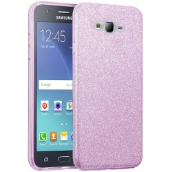 Husa Samsung Galaxy J5 J500 Color TPU Sclipici - Mov